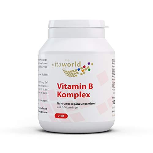 Pack de 3 Complejo Vitamínico de Vitamina B 100 Cápsulas Vegetales - B1 B2 B6 B12 - Vita World Farmacia