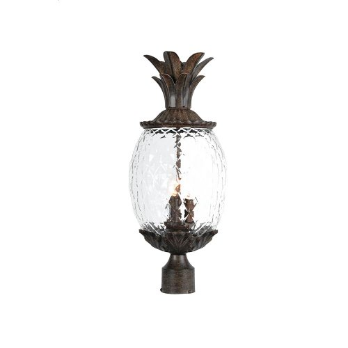 Acclaim 7517BC Lanai Collection 3-Light Post Mount Outdoor Light Fixture, Black Coral