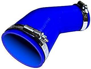 TOYOKING ホースバンド付き ハイテク シリコンホース エルボ 45度 異径 内径Φ38-Φ45 青色 ロゴマーク無し インタークーラー ターボ インテーク ラジェーター ライン パイピング 接続ホース 汎用品