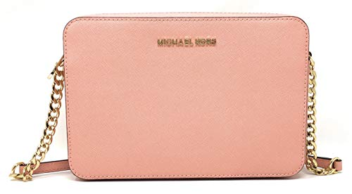 Beautiful and durable saffiano finished leather with polished golden tone hardware Lined interior with padded open slip pocket on back wall and open slip pocket on the front wall Zippered top closure with Michael Kors iconic logo on the front Single ...
