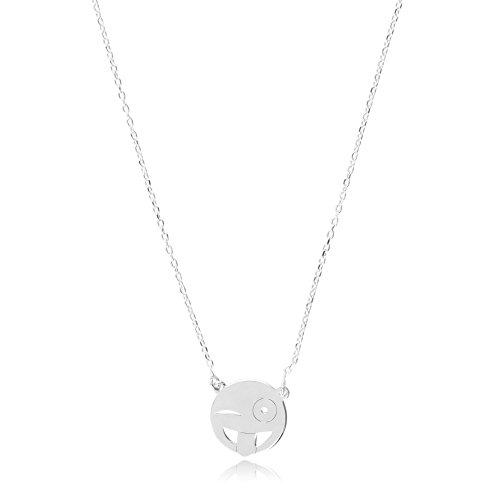 Córdoba Jewels | Gargantilla en Plata de Ley 925. Diseño Emoticono Guiño