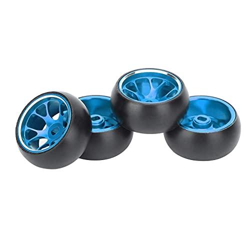 WYDM Neumáticos para vehículos RC de 4 Piezas, Ruedas de Metal a Escala 1/28 y neumáticos de Goma, reemplazo de neumáticos de Deriva con Control Remoto, Compatible con k969 1:28 RC Car