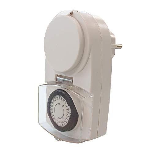 Preisvergleich Produktbild Unitec Tageszeitschaltuhr analog Mini IP44 ws