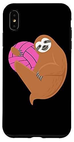 iPhone XS Max Volleyball Tee Sloth Hug Pink Ball For Players And Fans Case