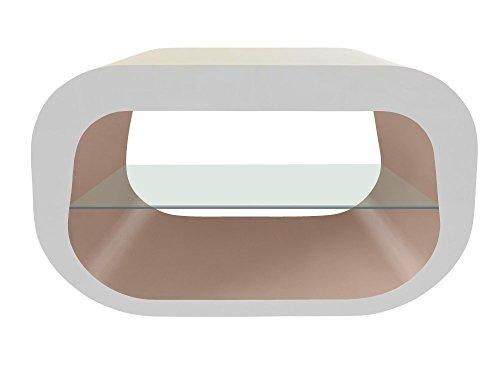 Zespoke Design Il Squoval Ovale Piazza Porta TV in Bianco con i Vari Colori