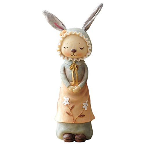 OMING Tirelires Creative Lapin Tirelire Cadeau d'anniversaire Salon Armoire à vin décoration de la Maison poupée Ornements Tirelires pour Enfants ( Color : A )