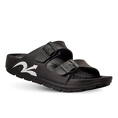 Gravity Defyer Women's Black UpBov Sandal 8 M US - VersoCloud Multi-Density Shock Absorbing Ortho-Therapeutic Sandals