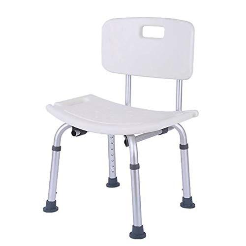 PBTRM Duschhocker Badezimmer Sitz/Bad Stuhl Duschsitz Sicherheit Badezimmer Tragbare rutschfeste Höhenverstellbare Dusche Bad Hocker Bank Aluminiumrahmen