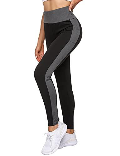 Leggings Sportivi da Donna Morbido Leggings Donna Fitness Opaco Elastici Leggings Pantaloni da Yoga con Tasche per Correre Fitness SPOR