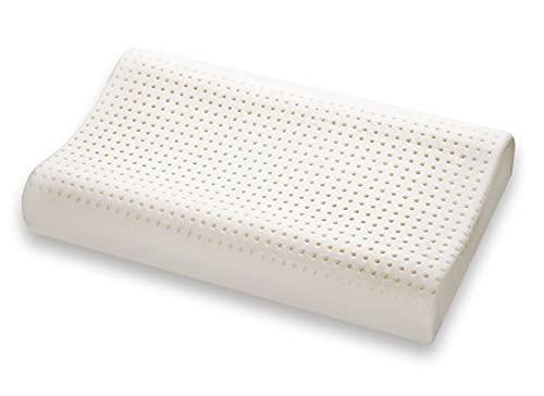 Marcapiuma - Cuscino in Memory Foam Modello Doppia Onda con Fodera 100% Cotone Guanciale Memory Ortopedico Contro Dolore Collo e cervicali Dispositivo Medico DETRAIBILE 19% dalle Tasse Made in Italy