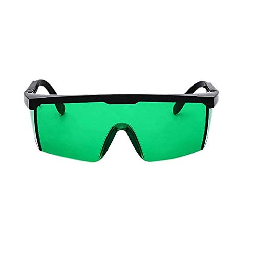 2 STKS Laser Bescherm Veiligheidsbril PC Brillassen Laserbrillen Oogbeschermende bril Unisex Zwart Frame Lichtdichte bril, Groene kleur