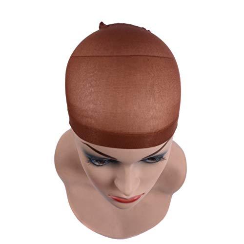 Filet De Cheveux De Chapeau De Perruque, 36Pcs Filet De Cheveux De Chapeau De Perruque De Haute Qualité, Utilisé Pour Les Cheveux Tressés,Red brown