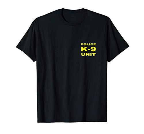 Police K-9 Unit Double Side Front & Back Print Dog Handler T-Shirt