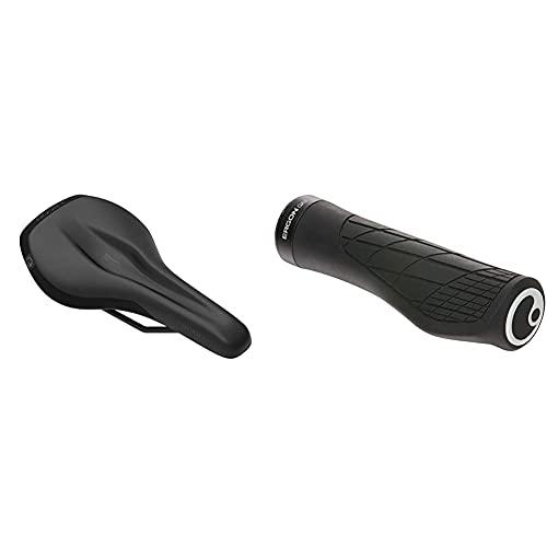 Ergon Selle Smc Core Homme Griffe, Schwarz/Grau, Small-Medium & Grips Technical - Ga3 Large Noir Griffe, Schwarz, L