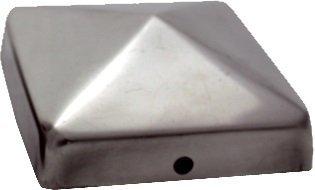 haebelholz 10 Stück Pfostenkappe Edelstahl 121x121 mm Pyramide