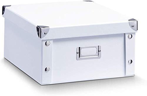 Zeller 17763 Aufbewahrungsbox, Pappe, weiß, ca. 31 x 26 x 14 cm