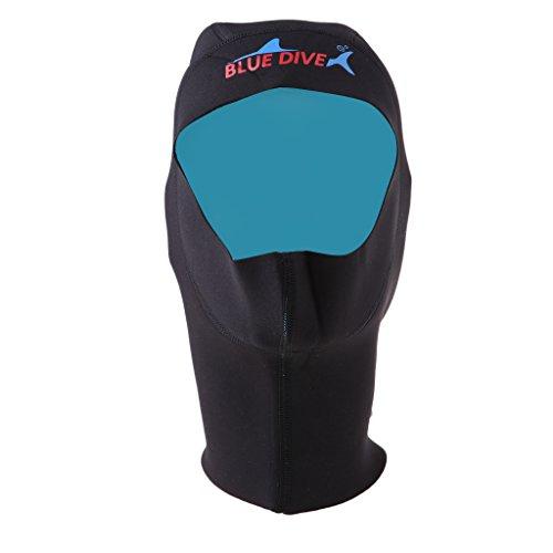 freneci 1 Mm Neopreno Scuba Snorkeling Traje de Neopreno Cap Capucha Capucha de Buceo S M L XL Negro - S