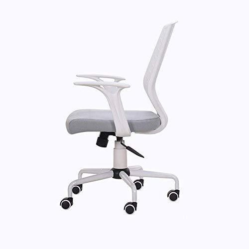 JISHIYU -Q Silla de escritorio ergonómica de malla ajustable giratoria para el hogar con asiento acolchado y reposabrazos sillas de escritorio