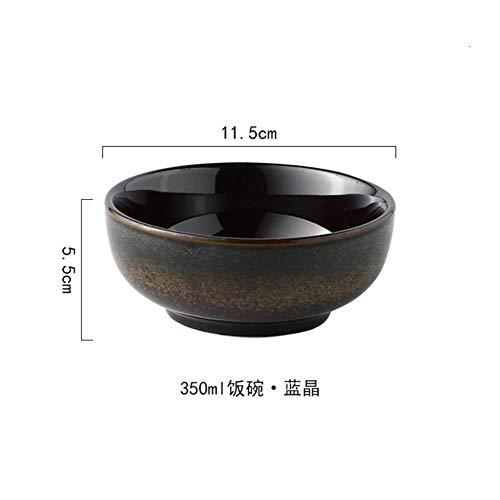 Houer Japanse stijl 4,5 inch kom keramische rijstkom thuis kleine soepkom eet kom noodle kom sushi dagelijks Restaurant Servies, 2