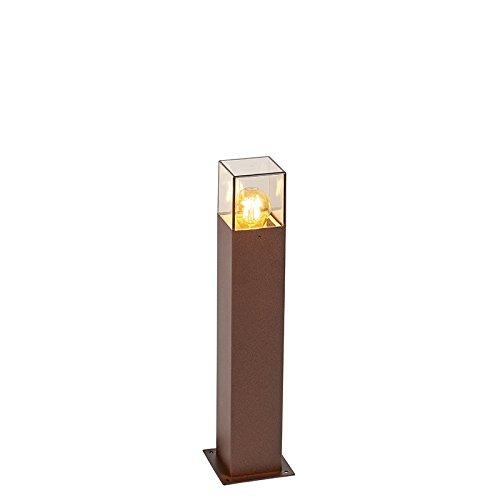 QAZQA - Modern Industrie | Industrial AußenStehleuchte | Stehlampe | Standleuchte | Lampe | Leuchte 50 cm rostbraun IP44 - Dänemark | Außenbeleuchtung - Aluminium Länglich - LED geeignet E27