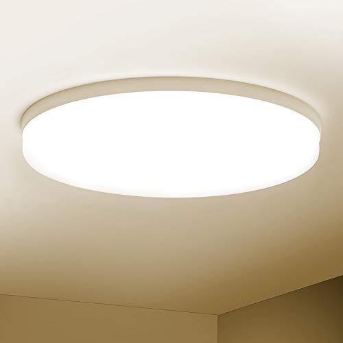 Combuh Plafón LED 48W 4320Lm Fácil de Instalar Modernos Lampara de Techo para Dormitorios Salones Cocina Blanco Natural 4500K Redondo Ø30CM
