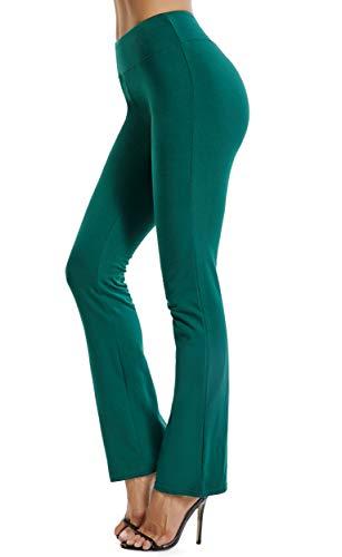 FITTOO Pantaloni Yoga Donna Yoga Pants Larghi Eleganti Sportivo, Verde, S