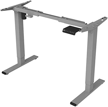 EN1W Height Adjustable Electric Standing Desk Frame Only with Heavy Duty Steel Stand up Desk with Automatic Memory Smart Keyboard (White)