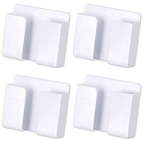 Soporte de Cargador de teléfono móvil de Montaje en Pared de 4 Piezas, Soporte de Pared Adhesivo para teléfono Celular de 3M para Cargador (Blanco)