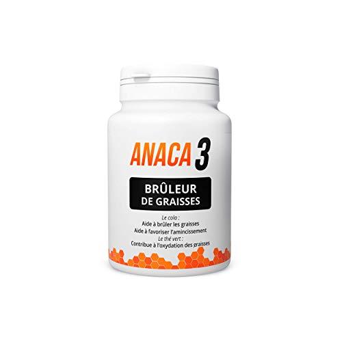 Anaca 3 – Brûleur de Graisses – Complément Alimentaire –Plantes, Curcumine & Zinc – Programme 30 jours – 60 gélules