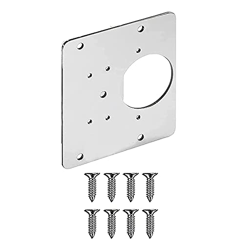 WZDTNL Reparación de la bisagra de la Puerta del Armario, Placa de reparación de la bisagra, Accesorio de reparación de la Placa de Acero Inoxidable para cajón… (01)