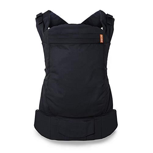 Beco Porte-bébé, Metro Black - Porte-bébé ergonomique de style sac à dos pour enfants de 9 à 30 kilos, conçu pour maintenir les tout-petits avec un siège extra large
