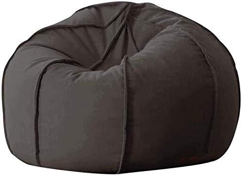 QTQZDD pompoen lazy sofa recliner gaming zitzak zitzak enkele kamer woonkamer kleine woning lazy stoel klap (kleur: zwart) 15 EU 15