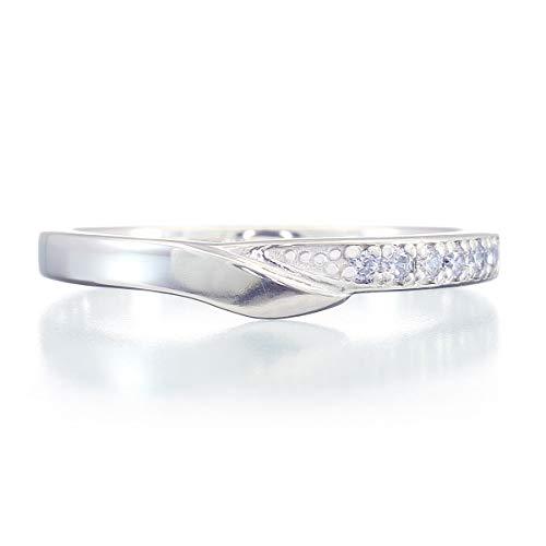 [ココカル]cococaru プラチナ Pt900 ダイヤモンド リング 0.02ct 重ね付け 指輪 4号 ピンキーリング 天然 ダイヤモンド 日本製