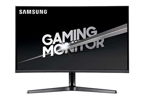 Samsung C27JG56 Gaming Monitor Curvo WQHD 2K 27'' Dual Snodo-Basis, 2560 x 1440, 1800R, 4 ms, 144 Hz, 2 HDMI, 1 Display Port, dunkelgrau