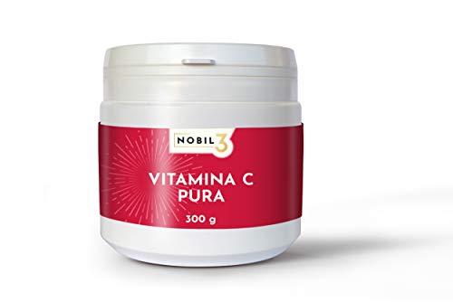 Nobil3, Vitamina C pura, acido ascorbico 300 g in polvere con Dosatore