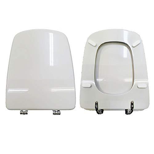 Asiento para inodoro Aero Ideal Standard de madera revestida de resina de poliéster blanco I.S. Como original