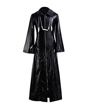Roxas Costume Halloween Role Play Game Cosplay PU Jacket for Men  Large Jacket