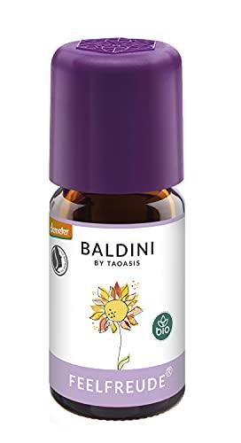 Baldini Feelfreude BIO, Bio Duftmischung mit 100 % naturreinen ätherischen Ölen und Alkohol, Ölmischung mit Limette, Grapefruit und Orange, 5 ml