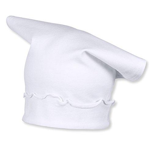 Sterntaler Kopftuch für Mädchen mit Rüschen, Alter: ab 6-9 Monate, Größe: 45, Weiß