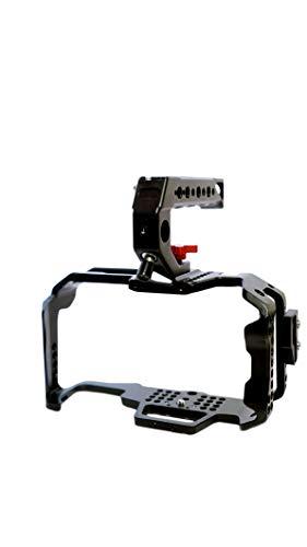 Camgear Blackmagic - Cámara de Cine de Bolsillo BMPCC 4k/6k Jaula con Mango Superior de liberación rápida, Abrazadera HDMI