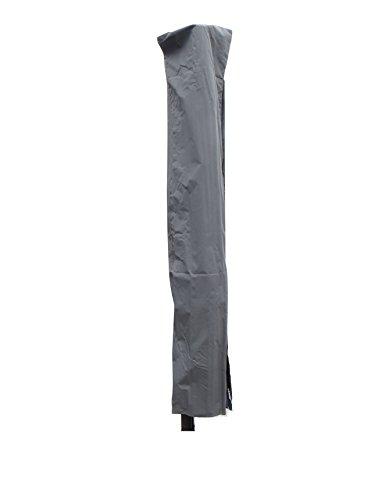 Madison hochwertige Ampelschirm Schutzhülle #2 mit Stab aus wetterfestem 220g/m2 Polyestergewebe in grau