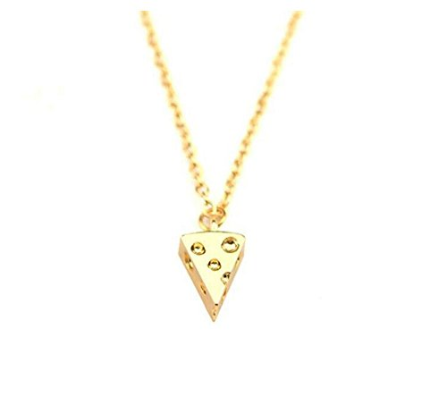 Grenf Fashion 2016 Various Friend Birthday Gift Best Friend Forever Circular Shaped Cheese Stitching Necklace Into 8 Pcs Pizza Pendant for Besties and Friends (Gold(1 Piece))