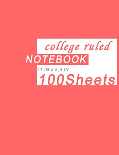 Ayoben Notebook,College ruled Notebook,100 Sheets,8.5x11 Inches