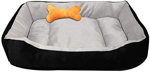 IUYJVR Camas para mascotas para perros lavables separadas para nido adecuado para cuatro estaciones de arena gruesa para gatos pequeños y medianos (color: negro gris, tamaño: XXL)