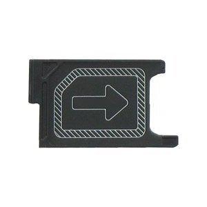 MMOBIEL Soporte Ranura de Bandeja de Tarjeta Micro Sim Repuesto Compatible con Sony Xperia Z2 L50w D6505 D6503 (Negro)