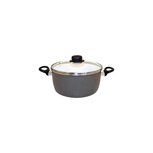 Beka cookware à Quartz Cocotte avec Couvercle, 24 cm, en Acier au Carbone, Blanc/Beige, 30 x 24 x 30 cm