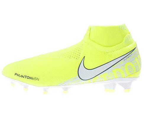 Nike Phantom VSN Elite DF FG Mens Football Boots AO3262 Soccer Cleats (UK 8 US 9 EU 42.5, Volt White Barely White 717)