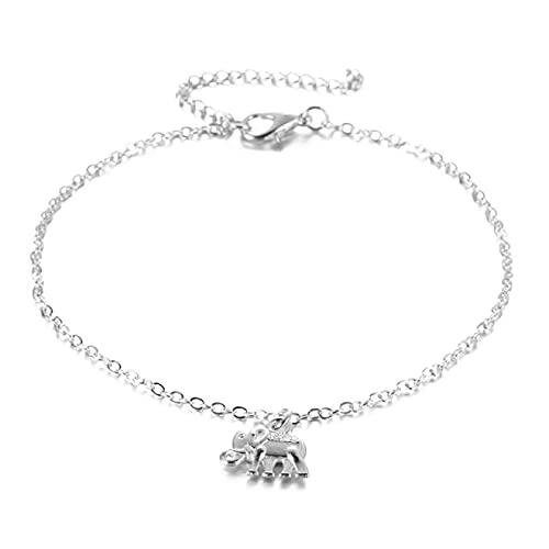 Dainty Ankle Braceletsummer Beach Anklet Hollow Elephant Animal-Shaped Anklet Bracelet Jewelry Simple Fashion Anklet