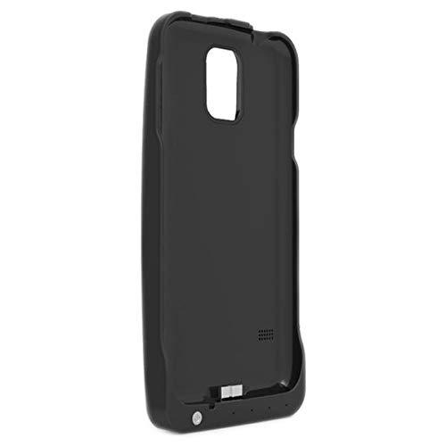 outlet Funda Cargador Bateria Samsung Galaxy S5 de 3200 mAh Yatek, Color Negro, Incluye Soporte Trasero