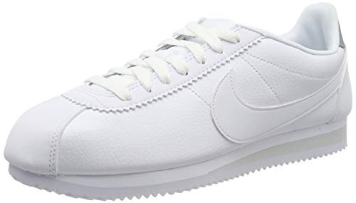 Nike Classic Cortez Leather, Zapatillas de Running para Hombre, Blanco (White/Pure Platinum 101), 42 EU